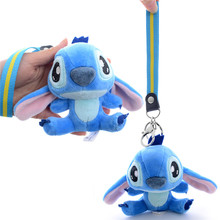 Plush Lilo&Stitch Dolls with Lanyard Cute Stuffed Stitch Pendants for Kids Best Birthday Gifts for Kids 4'