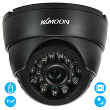 KKmoon CCTV Security Surveillance DV DVR Indoor Dome Camera VGA 24 IR LEDs Night Vision USB Disk PC Cam Support Audio TF Card(China)