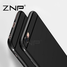 ZNP Luxury Back Matte Soft Silicone Cases for iPhone 6 6s Case 6 Plus Full Cover TPU Phone Cases For iPhone 6 Case 6s Plus(China)