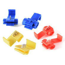 100pcs Electrical Cable Connectors Quick Splice Wire Terminals Blue/Red/Yellow HS788-790+