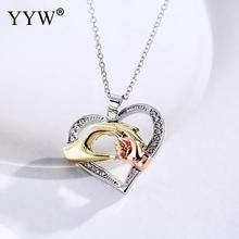Buy Crystal Pendant Heart Necklace Classic Valentine's Day Crystal Heart Pendant Necklace Rhinestone Lover Gift Women Chain 17.7 for $2.04 in AliExpress store