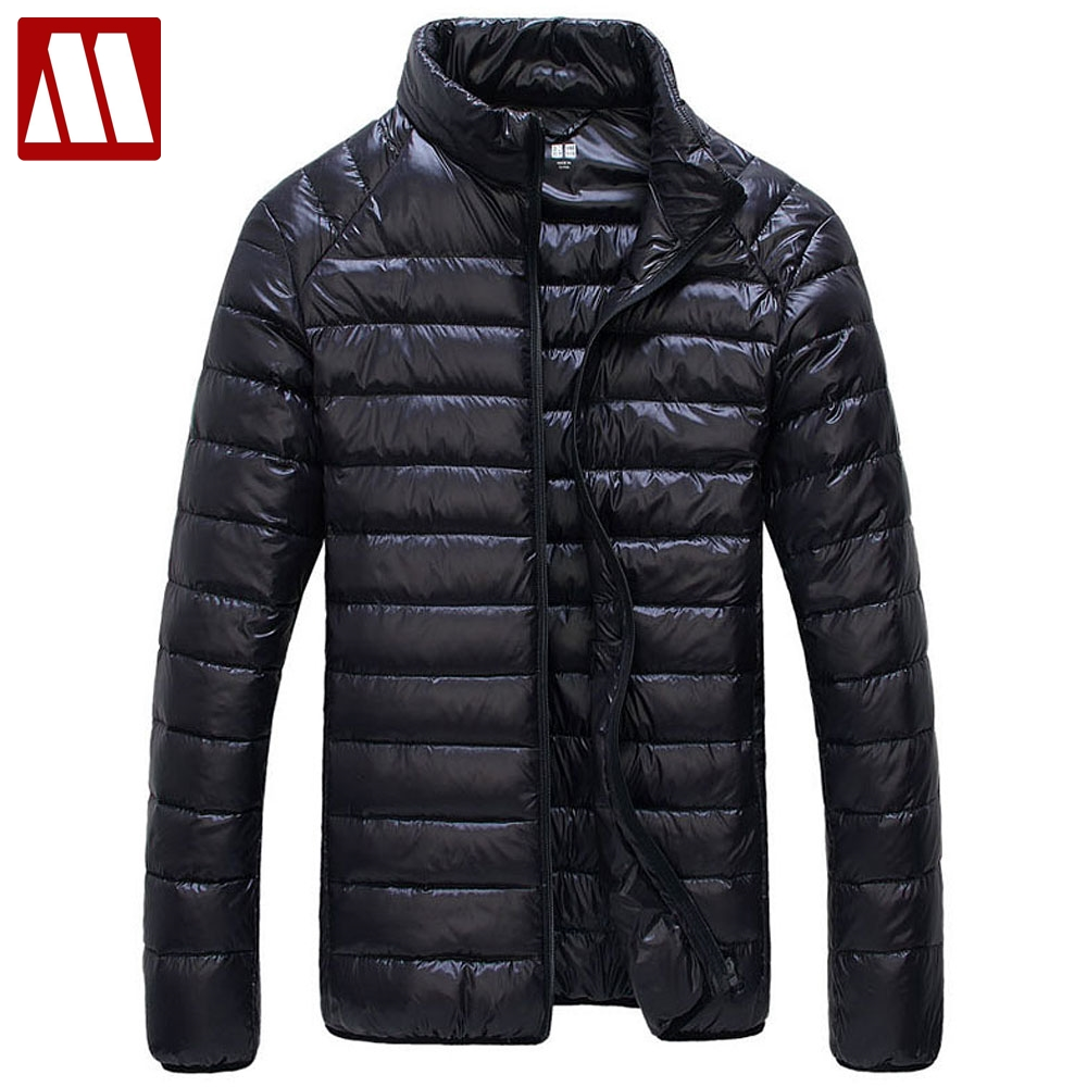 Autumn Winter Down Coat 90% White Duck Down Parkas for Men Brand Male Jacket Ultra Light Thin Winter Jackets Men's Outerwear