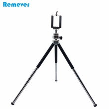 15.5-30CM 3 Sections Extendable Metal Portable Tripods with Phone Holder For Gopro Cameras Xiaomi Iphone Samsung Huawei Phones(China)