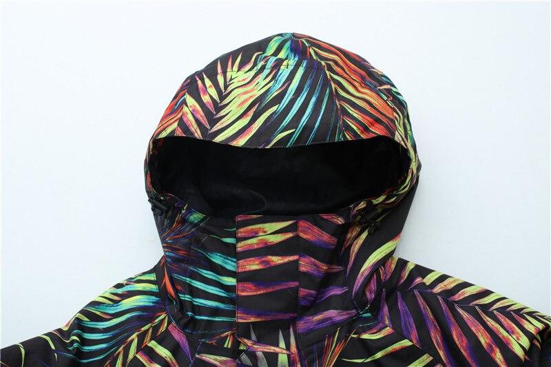 2018 GSOU снег Для мужчин лыжная куртка сноуборд куртка ветрозащитная Водонепроницаемый уличная спортивная одежда супер теплая одежда с капюшоном мужская зимняя