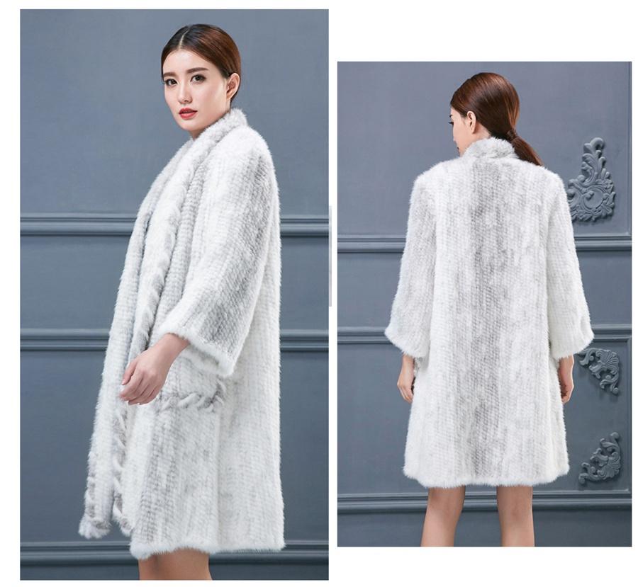 women luxury genuine real knitted mink fur shawls (11)