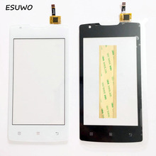ESUWO New Touchscreen For Lenovo A1000 Touch Screen Digitizer Front Glass Touch Panel Replacement +3m sticker