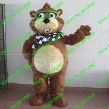QIANYIDUOO Make EVA Material Helmet brown chipmunk Mascot Costumes Cartoon Apparel Birthday party Masquerade 1013(China)