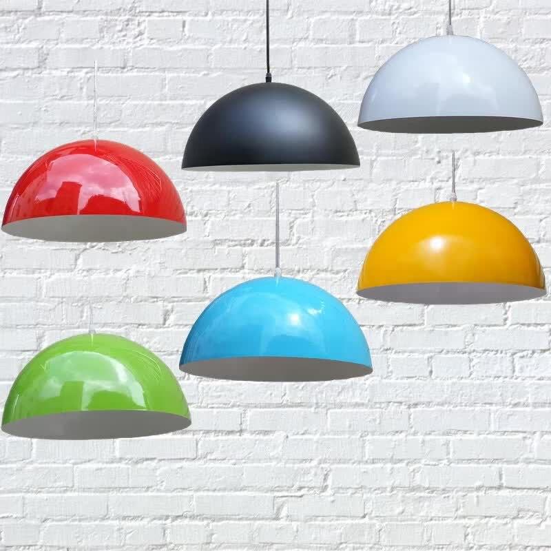 Vintage LED Pendant Lights AC85-265V E27 Colour Aluminum Paint Shade Pendant Lamp For Kitchen Bar Simple Decor Lighting Fixtures<br>