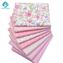 8pcs/lot 40cm*50cm Pink Cotton Fabric for Patchwork Quilting Doll Cloth Dresses Sewing Needlework Material Telas to Patchwork(China)