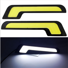 2 Pcs/set LED Fog Front Light New Led DRL L Shape 12V Xenon White LED COB Car Auto LED DRL Driving Daytime Running Lamp