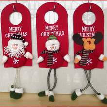 Christmas Tree Decor Ornaments Xmas Home Door Decoration Santa Claus Snowman Reindeer EJ873670(China)