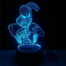 New 3D Lamp Attack Spider Man Gradient Led Night Light Kids Toys Table Lampara Creative Festival Birthday Cool Boy Gifts Gadget(China)
