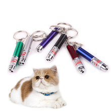 Laser funny cat stick New Cool 2 In1 Red Laser Pointer Pen With White LED Light Childrens Play Cat Toy Random colors