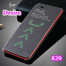 For HTC 820 G Slim Dot Bag Smart Auto Sleep View Shockproof Silicone Original Leather Case Flip Cover For HTC Desire 820 820G