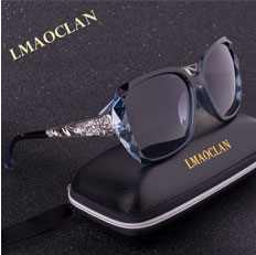 LMAOCLAN Brand Design Luxury Polarized Sunglasses Women Ladies Gradient Big Sun Glasses Female Vintage Hollow Out Eyewear UV400