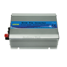 mppt pure sine wave micro grid tie inverter 600W with LED indicator,22-60V DC to 230V AC CE,Free shipping