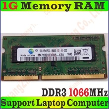 Original Quality Memory RAM PC3-8500S 1g / 1GB 2g 2GB  DDR3 1066MHz FOR Laptop Notebook Apple MacBook PC3-8500 , free&shi/pping
