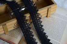 5 Meters/lot 3cm Width Black Cotton Trimmings Embroidered Net Trim Ribbon Sew On Appliques Craft Embellishment Home Decoration