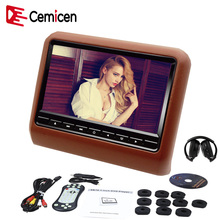 Cemicen 9 Inch 800*480 LED Car Headrest DVD Video Player Monitor Built-in Speaker with USB/SD/IR FM Transmitter/Game DVD Player(China)