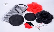 Wholesale Attractive multiple color red black DIY sinmay fascinator hat bridal fascinator for wedding Races party.FREE SHIPPING