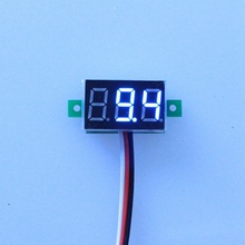 5PCS/LOT White Led Display DC 0-100V Car Battery Monitor Digital Volt Voltage Panel Meter DC Voltmeter(China)