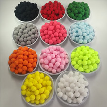 188Pcs 15mm Pink Red White Gray Yellow Black Plush Ball DIY Crafts Pom Poms Wedding Garment Decoration Festival Events Supplies(China)