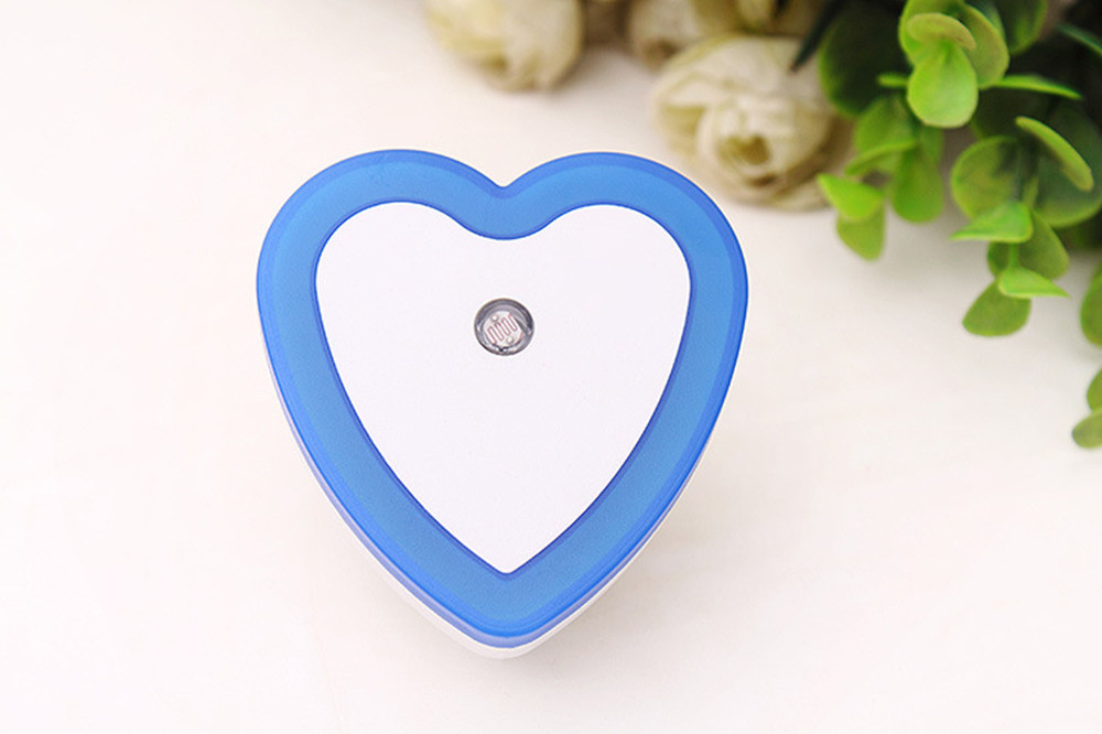 SuperNight Heart AC LED Night Light Intelligent Light Control Sensor Corridor Stairs Bedroom Bedside Toilet Home Decor Wall Lamp (11)