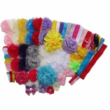 New Shower Headband Station DIY Kit  Make 32 Headbands and 5 Clips - DIY Hair Bow Kit - Birthday Party Collection A315-4
