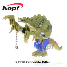 Buy Single Sale KF998 10.5CM Big Size Super Heroes Crocodile Killer Batman Movie Dolls Kids Bricks Building Blocks Children Toys for $1.20 in AliExpress store