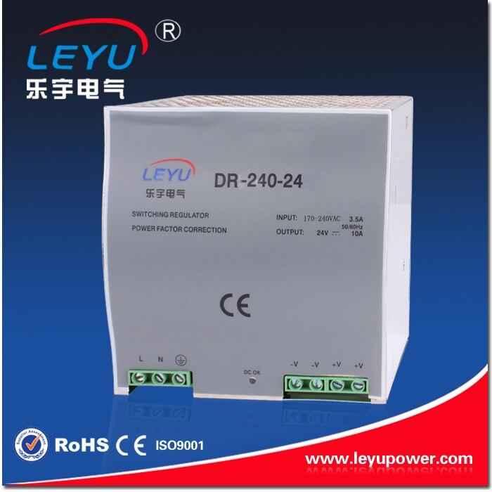 2016 Hot sell factory outlet DR-240 110VAC input 12VDC 24V 36V 48V Output Din Rail power supply<br>