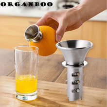 ORGANBOO 1PC Stainless Steel Fruit Vegetable Tools Lemon Juicer Manually Squeezers Gadget The Goods For Kitchen(China)