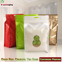 5 pcs 18x28cm Stand up Ziplock BagsSquare Bottom Snack  Aluminum Foil Zip Lock Bag Pet Food Packaging with Clear Window