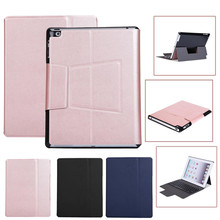 Ultra Thin Light Bluetooth Keyboard with Leather Case for iPad2/3/4 H5T4(China)