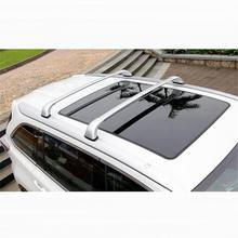 4 PCS Car styling NEW aluminum alloy Cross roof bar luggage racks/roof rail Stickers for TOYOTA HIGHLANDER 2015 part accessories
