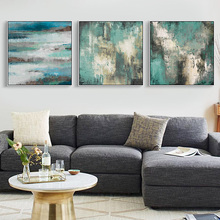 Nordic Abstract Canvas Painting Oil Painting Green Water Landscape Picture no Frame Poster Home Decor for Living Room
