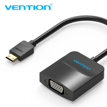 Vention Mini HDMI to VGA Adapter, convertor converter Support for phone and TV screen video with Mic and XBOX 360 power supply