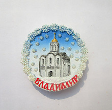 Russia's Vladimir the Cathedral of the world travel souvenirs resin refrigerator sticker
