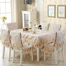 abbiemao modern fashion home use rose patterns table and chair sets table cloth three colors(China)