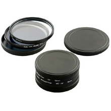 new hot 52MM THREAD Screw-in UV CPL ND FILTERS METAL STACK CAP SET PROTECTOR COVER CASE  lens cap for any 52mm filter protective