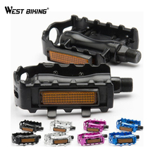 WEST BIKING Alloy Pedals With Aluminum Pedal s Light Emitting Chips Brand Pedal Bike Bicycle Cycling Pedals
