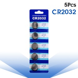5 шт./упак. CR2032 кнопки батареи BR2032 DL2032 ECR2032 сотового монета литиевая батарея 3 в CR 2032 для часов Электронные игрушки дистанционного управления
