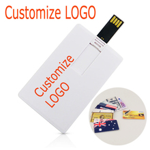 50pcs/lot customized LOGO credit card USB Flash Drive pen drive 128M 256M 512M 1GB 2GB 4GB 8GB 16GB 32GB pendrive memory stick