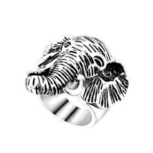New Fashion Personality Exaggerated Elephant Retro Ring Elephant Ring For Men Jewelry(China)