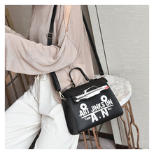 Letter Cartoon Printing Handbags for Women High Quality Girls Kelly Bag Fashion Lady Single Shoulder Saddle Bag(China)