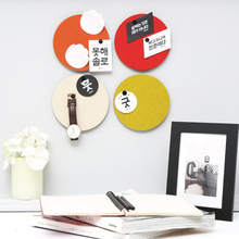 yazi 6PCS Fashion Wall Decoration DIY Creative Wall Sticker Felt Colorful Round Decorative Mural Decals Home Cafe Shop Decor(China)