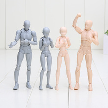 Bandai S.H. Figuarts Woman/Man Body Kun Models Body Chan Archetype Plae Orange Color/Gray Action Figure by Anime/Manga DX Set