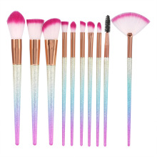 Glitter Fan Makeup Brushes Set Base Foundation Powder Concealer Blush Eyeshadow pincel de maquillaje Cosmetics Make Up Brush Kit(China)