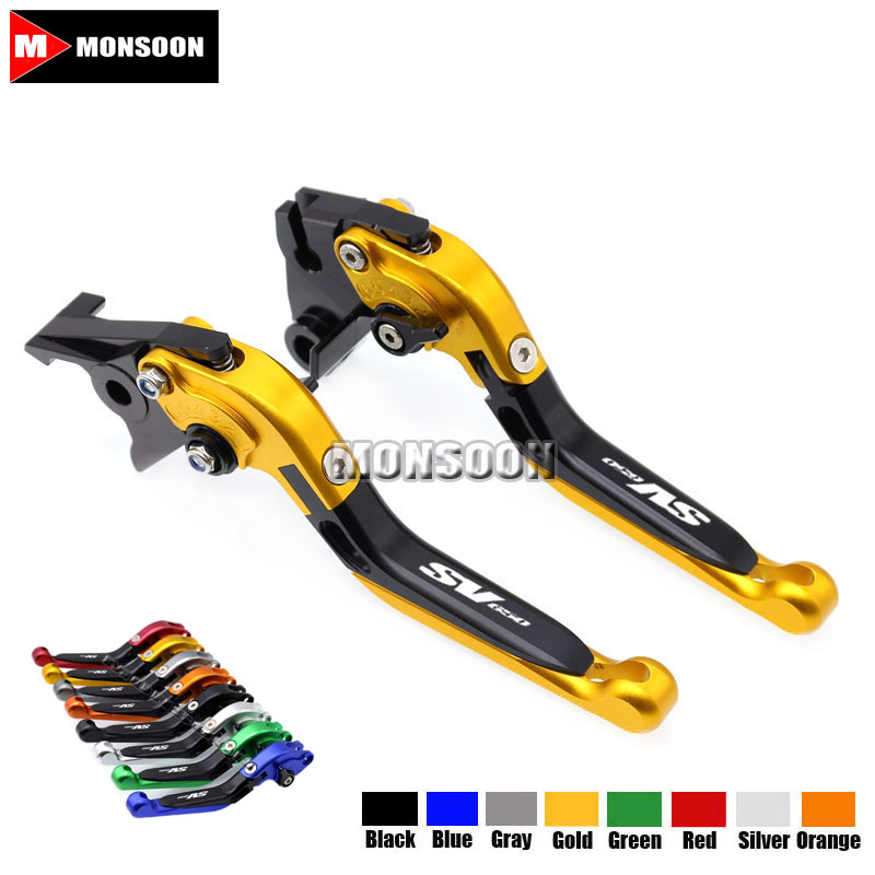 LOGO SV650 For SUZUKI SV650 SV 650 1999-2009 Motorcycle Accessories Folding Extendable Brake Clutch Levers 8 Colors<br>