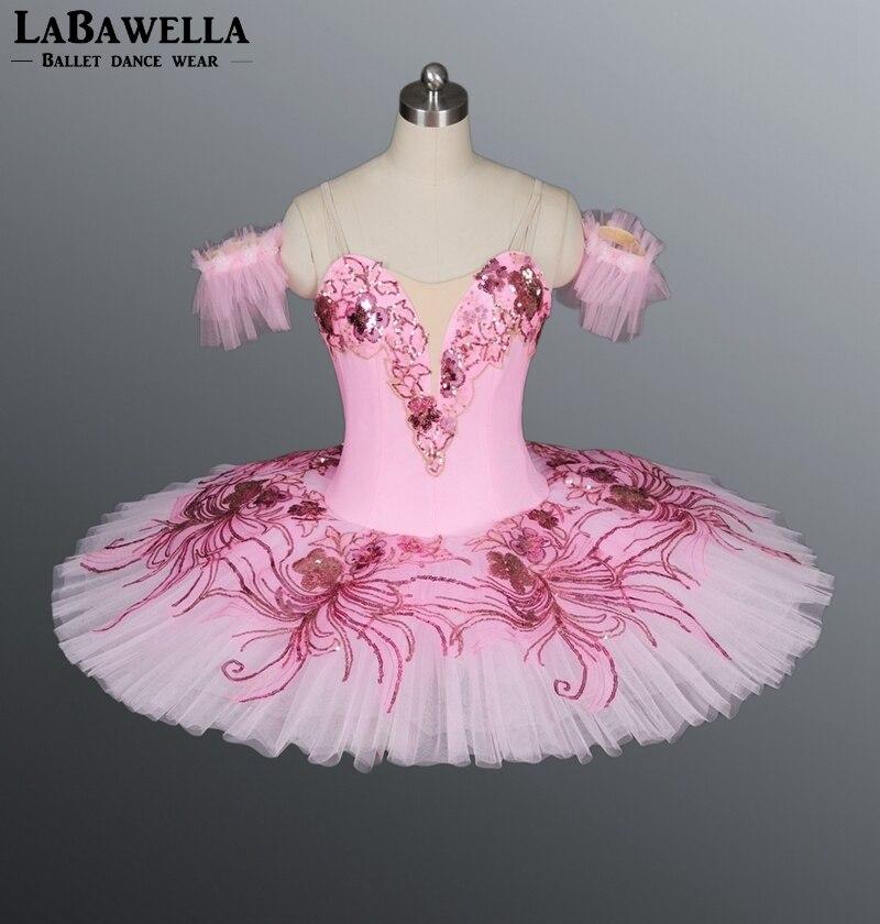 BT8980A Pancake Costume Platter Ballrina Pink Peach Fairy Princess Nutracker Professional Tutu Women