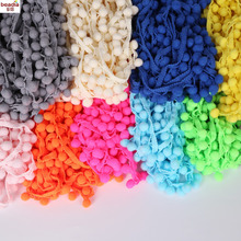 20MM 5 yards/lot Satin Lace Ribon Pom Pom Decoration Pompom Trim Ball Fringe Lace Ribbon DIY Apparel Cloth Sewing Accessories